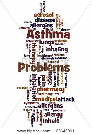 Asthma Problems, Word Cloud Concept 5
