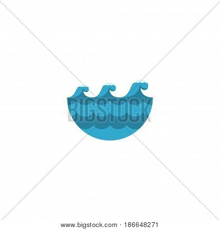 Flat Waves Element. Vector Illustration Of Flat Sea Isolated On Clean Background. Can Be Used As Sea, Waves And Water Symbols.