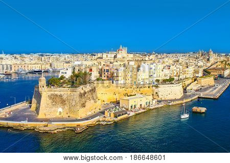 beautiful view of La valletta in Malta