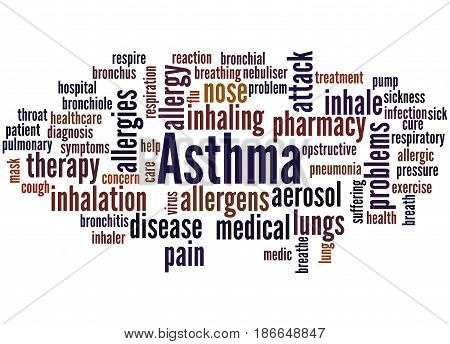 Asthma, Word Cloud Concept 6