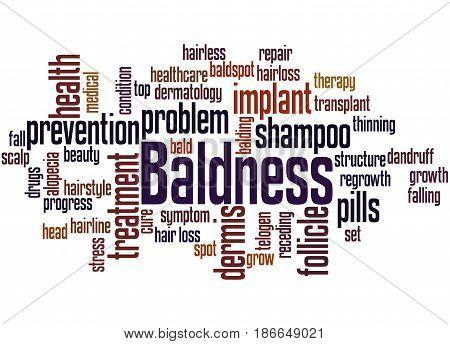 Baldness, Word Cloud Concept