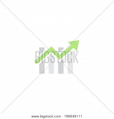 Flat Progress Chart Element. Vector Illustration Of Flat Bar Diagram Isolated On Clean Background. Can Be Used As Bar, Chart And Diagram Symbols.