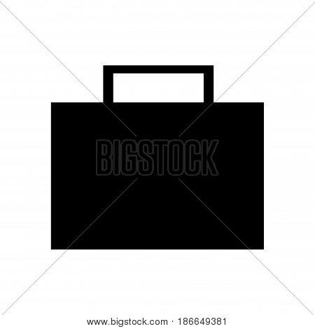 silhouette briefcase portfolio bsuisness image vector illustration