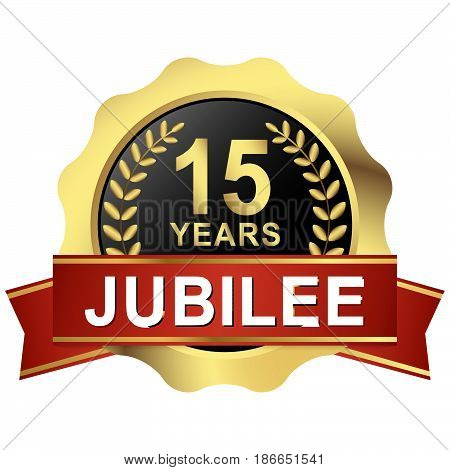 Button 15 Years Jubilee
