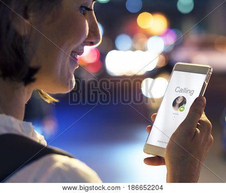 Telecommunication interact networking technology on mobile phone