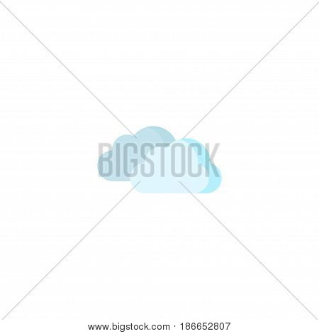 Flat Clouds Element. Vector Illustration Of Flat Sky Isolated On Clean Background. Can Be Used As Clouds, Sky And Overcast Symbols.