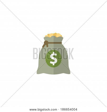Flat Profit Element. Vector Illustration Of Flat Income Isolated On Clean Background. Can Be Used As Income, Profit And Money Symbols.