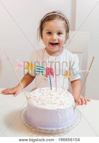Celebrating Birthday Little Girl