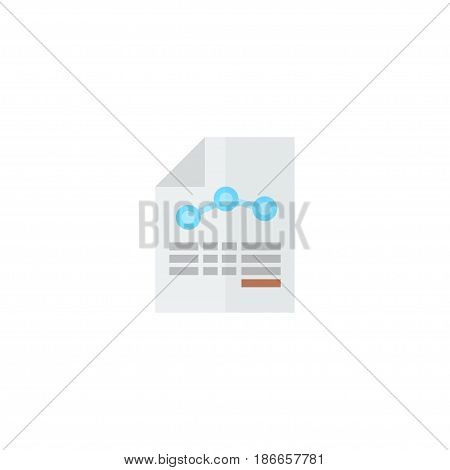 Flat Balance Sheet Element. Vector Illustration Of Flat Paper Isolated On Clean Background. Can Be Used As Paper, Balance And Sheet Symbols.