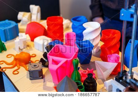 Plastic models made on a 3d printer