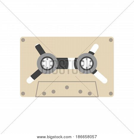 Audio tape isolated on white background - vector illustration