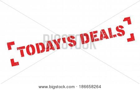 Today's Deals rubber stamp. Grunge design with dust scratches. Effects can be easily removed for a clean, crisp look. Color is easily changed.