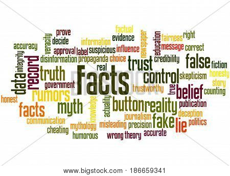 Facts, Word Cloud Concept 3