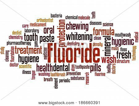 Fluoride, Word Cloud Concept