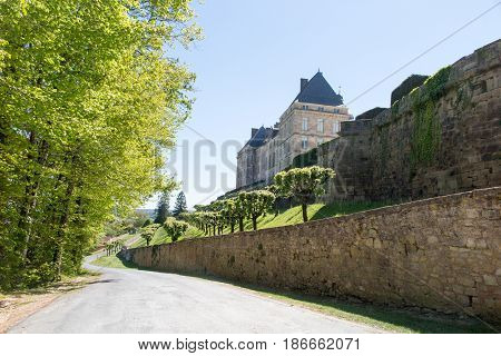 the street wall for classic and traditional house of the French bourgeois countryside