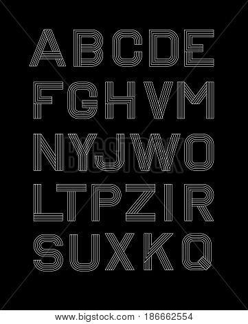 Vector Linear Font