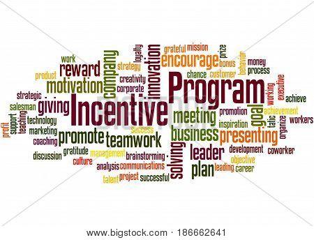 Incentive Program, Word Cloud Concept 4