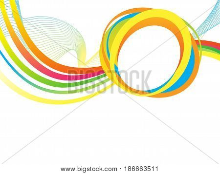 abstract artistic colorful rainbow wave vector illustration