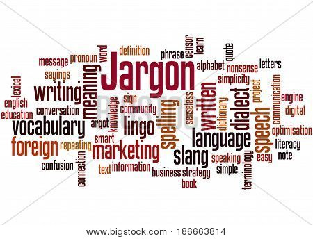 Jargon, Word Cloud Concept