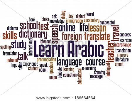 Learn Arabic, Word Cloud Concept 4
