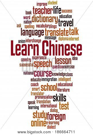 Learn Chinese, Word Cloud Concept