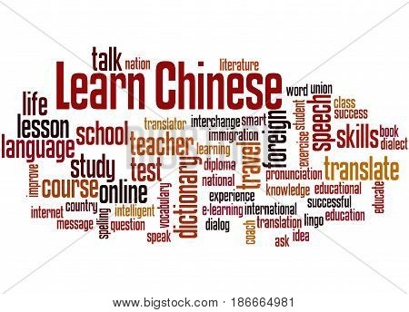Learn Chinese, Word Cloud Concept 4