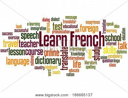 Learn French, Word Cloud Concept 2