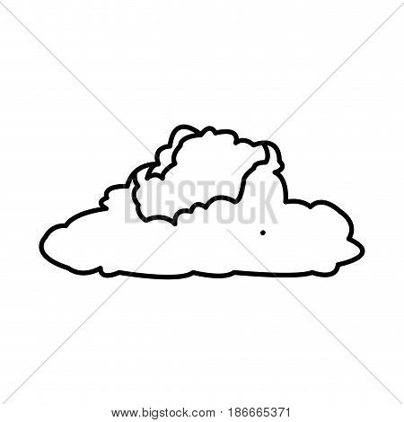 cumulus cloud weather natural meteorology vector illustration