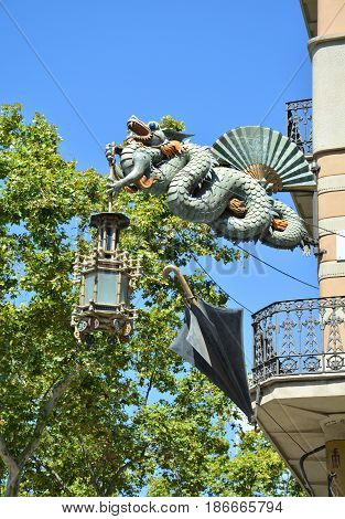 Chinese Dragon On La Rambla