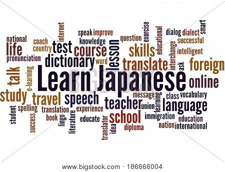 Learn Japanese, Word Cloud Concept 3