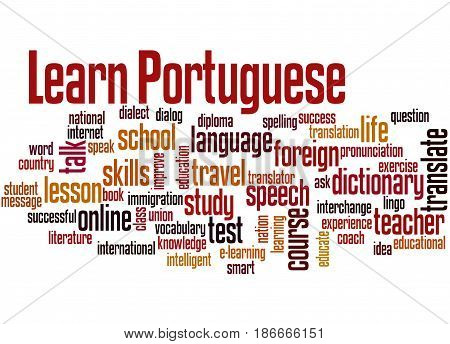 Learn Portuguese, Word Cloud Concept