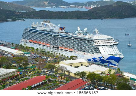 Royal Princess Cruise Ship In Saint Thomas