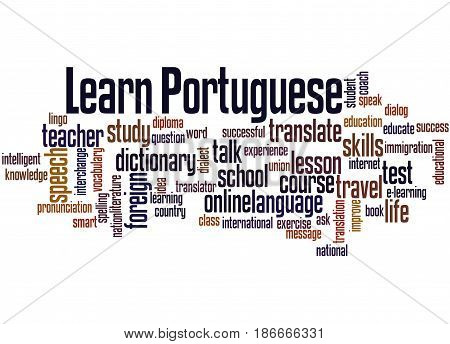Learn Portuguese, Word Cloud Concept 2