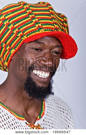 rasta man with traditional hat people diversity series