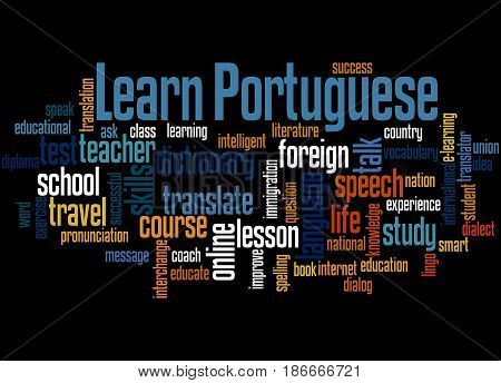 Learn Portuguese, Word Cloud Concept 3