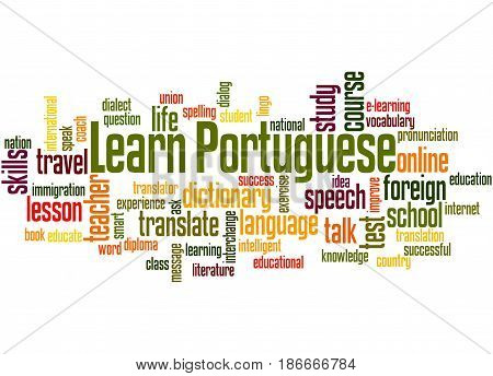Learn Portuguese, Word Cloud Concept 4