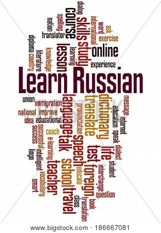 Learn Russian, Word Cloud Concept 4