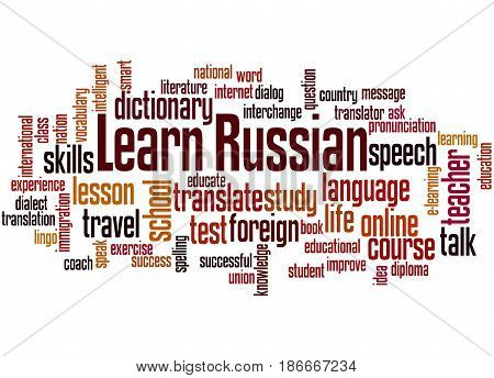 Learn Russian, Word Cloud Concept 6