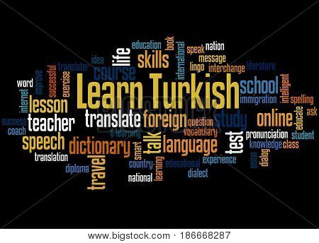 Learn Turkish, Word Cloud Concept 2