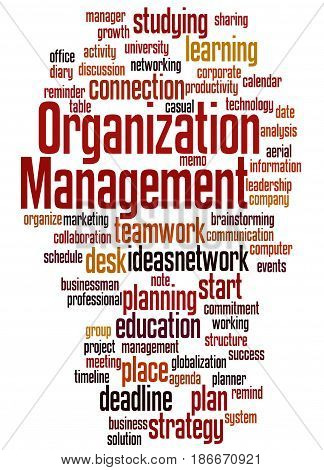 Organization Management, Word Cloud Concept 5