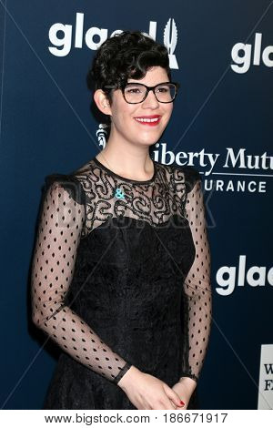 LOS ANGELES - APR 1:  Rebecca Sugar at the 28th Annual GLAAD Media Awards at Beverly Hilton Hotel on April 1, 2017 in Beverly Hills, CA