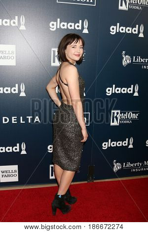 LOS ANGELES - APR 1:  Alexis G. Zal at the 28th Annual GLAAD Media Awards at Beverly Hilton Hotel on April 1, 2017 in Beverly Hills, CA