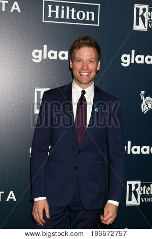 LOS ANGELES - APR 1:  Barrett Foa at the 28th Annual GLAAD Media Awards at Beverly Hilton Hotel on April 1, 2017 in Beverly Hills, CA