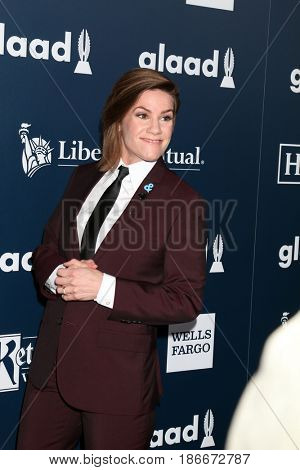 LOS ANGELES - APR 1:  Cameron Esposito at the 28th Annual GLAAD Media Awards at Beverly Hilton Hotel on April 1, 2017 in Beverly Hills, CA