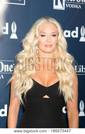 LOS ANGELES - APR 1:  Erika Jayne, Erika Girardi at the 28th Annual GLAAD Media Awards at Beverly Hilton Hotel on April 1, 2017 in Beverly Hills, CA
