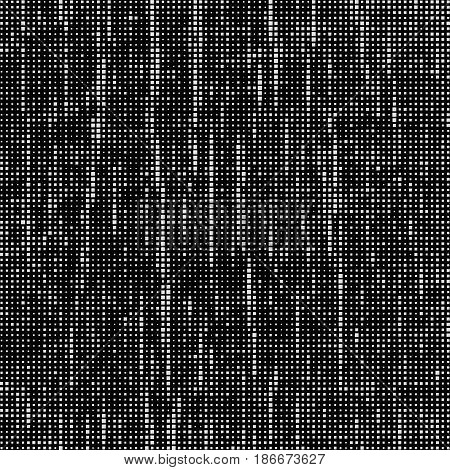 Grey Squares Of Different Sizes. Black Abstract Background. Halftone Effect. Vector Illustration