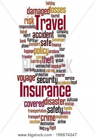 Travel Insurance, Word Cloud Concept 6