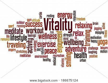 Vitality, Word Cloud Concept