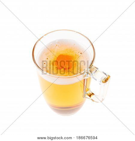 Jug Of Light Beer Isolated On White Background