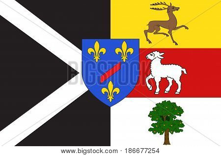 Flag of Rambouillet is a commune in the Yvelines department in the Ile-de-France in north-central France.